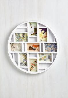 Every visitor to your home or office can stay in the loop on your personal life, if they only take a peek at this bold white multi-photo frame!
