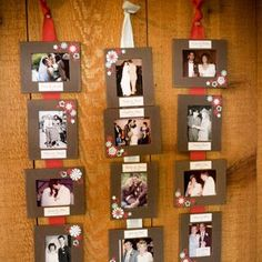 Wedding memory picture display board