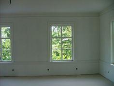 Bröstpanel + stora fönster