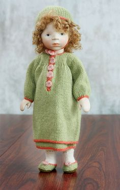 Girl In Green Knit H256 by Elisabeth Pongratz at The Toy Shoppe