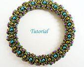 Tutorial Joyful netted bangle - Beading pattern bracelet PDF
