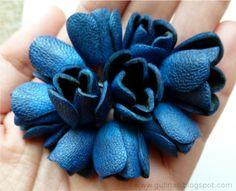 Gulnas Blog de Arte: flores de cuero. Instrucciones.