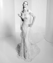 A perfect column of Lace...What a beautiful wedding gown by #ElieSaab!!