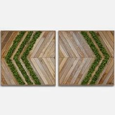 panel wood moss