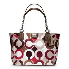 Coach Madison Graphic Op Art Metallic Tote ($278) ❤ liked on Polyvore