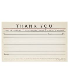 Thank You Telegram Note Cards. Shop more Stationery at Liberty.co.uk