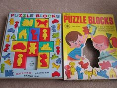 Vintage Bell's Toys and Games Puzzle Blocks 3D Shapes Complete in Toys ...