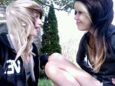 Reversed..brunette on blonde and blonde on brunette!