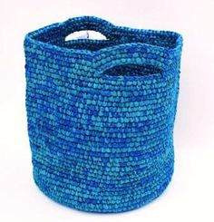 Azure blue basket.
