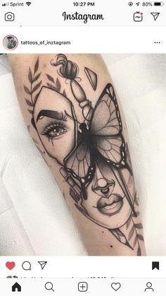 Dope Tattoos, Body Art Tattoos, New Tattoos, Hand Tattoos, Sleeve Tattoos, Tatoos, Real Tattoo, Arm Tattoo, Monarch Tattoo