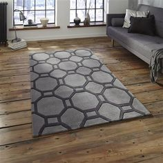ACHICA | Think Hong Kong 4338 120x170cm Rug, Grey