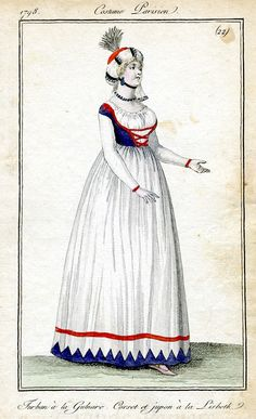 Fabulous Georgian gown, love the bodice and trim
