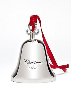 Klikel 2015 Annual Edition Christmas Jingle Bell Ornament Nickel Plated Engraveable