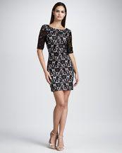 T4QKA Aidan Mattox Lace Sheath Dress