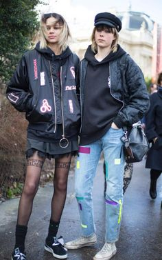 Models Binx Walton and Edie Campbell
