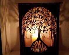 Tree of life earrings dangle earrings tree of by LessEgoMoreLove