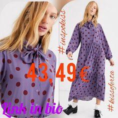 """""""Inspírate"""" Vestido largo con estampado de lunares en color óxido en violeta con lazada al cuello de Monki 5499  4349 (-20%) #longdress #monki #inspokiss #kissoferta #ideal #grupoinstagram #blogger #model #instagood #style #fashion #tagsforlike #outfit #girls #cute #glam #influencer #kissmylook #tw #asmr feliz día kissess  LINK IN BIO"""