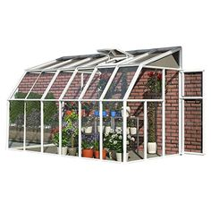 Rion Lean-to Sun Room 2 Clear Wall Greenhouse Kit Greenhouse Frame, Walk In Greenhouse, Greenhouse Ideas, Greenhouse Gardening, Outdoor Greenhouse, Cheap Greenhouse, Portable Greenhouse, Polycarbonate Greenhouse, Polycarbonate Panels