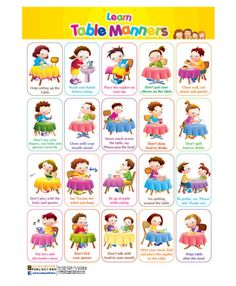 Print table etiquette lesson for kids worksheet teaching boys table manners top 10 table manners for kids Manners Preschool, Manners Activities, Manners For Kids, Rules For Kids, Teaching Manners, Teaching Tables, Preschool Tables, Preschool Activities, Teaching Kids