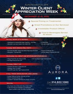 Take part in our Winter Client Appreciation Week December 10-15, 2012!