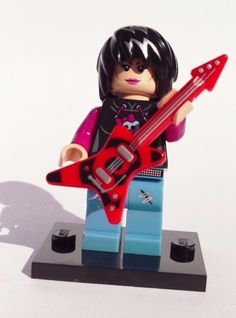CUSTOM 100% LEGO GIRL ROCKER HEAVY METAL ROCK PUNK ROCK STAR NO PAINT VERY KOOL #LEGO