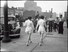 Девушки в шортах - фурор 1937 года.