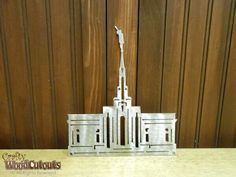 """Bountiful/Mount Timpanogos Temple Metal Craft. This craft is about 6.75"""" wide and 8.25"""" tall and costs $15.99."""