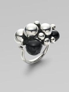 Georg Jensen - Grape Black Agate Sterling Silver Ring - Saks.com