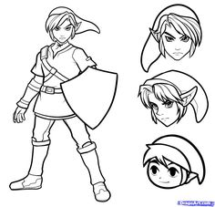 zelda draw easy link drawings drawing coloring step botw guide google dawn dragoart characters character sketches