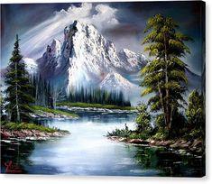 Nature artwork paintings bob ross 65 Ideas for 2019 The Joy Of Painting, Bob Ross Paintings, Cross Paintings, Artwork Paintings, Peintures Bob Ross, Cross Stitch Art, Snow Mountain, Mountain Paintings, 5d Diamond Painting