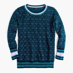 J.Crew Gift Guide: women's Tippi sweater in festive Fair Isle.