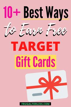 With the sheer number of sales, promotions and opportunities to get free Target gift cards, there really is no reason to pay full price for an item at Target.  Target is the place to shop and if you're lucky enough to be located near a Super Target, then you know you can do your grocery shopping there too! Super Target, Target Target, Sheer Number, Target Gifts, Ways To Save Money, Gift Cards, Frugal Living, Saving Money, How To Get