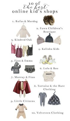 10 of the Best Online Kids Shops / Online Shopping for Kids / Kids Clothing Shops // Lynzy & Co.
