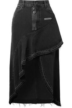 Black denim Button and zip fastening at front 100% cotton; lining: 65% polyester, 35% cotton Dry clean Designer wash: Vintage Black White Made in Italy