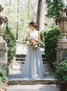 Swan House Spring Wedding Inspiration - photo by Simply Sarah Photography http://ruffledblog.com/swan-house-spring-wedding-inspiration · Ruffled