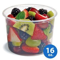 16oz Round Clear Plastic Deli Food/Soup Restaurant Storage Container Cup w/ Lids #EHofmannPlasticsInc