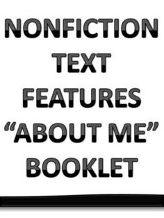 "Nonfiction Text Features ""About Me"" Booklet This would be a fun activity to have them use: photos, captions, family trees w labels, etc. Nonfiction Activities, Reading Response Activities, Reading Strategies, Reading Skills, Teaching Reading, Teaching Spanish, Teaching Ideas, Learning, Second Grade Writing"