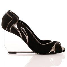 Peep Toe Anabela Acrilico Costes | Mundial Calçados