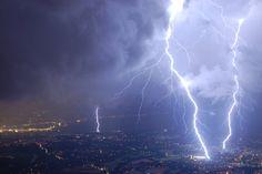 Schweres Gewitter über Genf