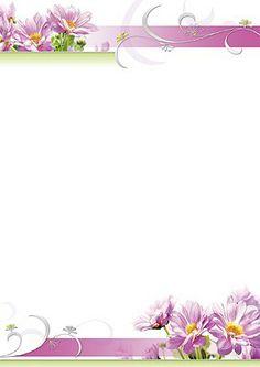 #PC #Briefpapier mit lila #Blumen
