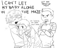 The maze runner fan art: Newt, Thomas and Gally. This is my favorite EVER