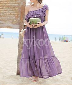 #Bohemiandresses #Chiffondresses #Straplessdresses #purpleDresses #beachdresses #chiffonholidaydresses