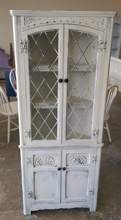 Check Out This Gorgeous English Corner Cabinet. These Pieces Are Super Hot  Right Now Because · Shabby Chic Display PiecesDisplay CabinetsShabby ...