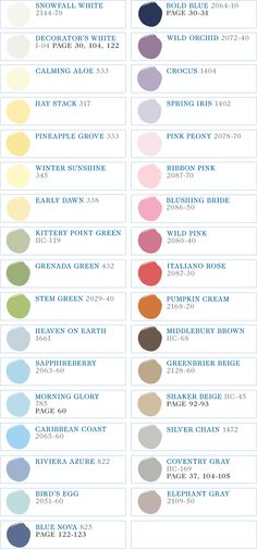 all of the pottery barn kids paint colors. not just for kids