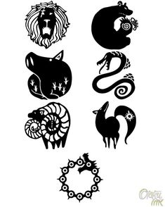 The Seven Deadly Sins: Cosplay Temporary Tattoos by Otaku Ink - The Seven Deadly Sins: Temporary Cosplay Tattoos of Tatouage Seven Deadly Sins, Seven Deadly Sins Symbols, Seven Deadly Sins Tattoo, Anime Seven Deadly Sins, Otaku Anime, Anime Art, Anime Manga, Sin Tattoo, Regard Animal