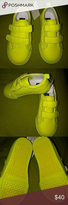 GAP Neon Yellow double strap sneakers GAP Neon Yellow double strap sneakers GAP Shoes Sneakers