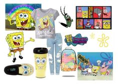 SpongeBob by iamgrootiamgroot on Polyvore featuring Topshop and Fun Rugs