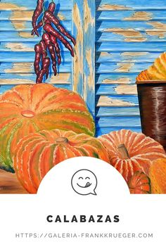 Autumn is pumpkin time - even on the beautiful sunny island of Mallorca! With this work of art, the artist Frank Krüger managed to make the pumpkins the focus, but also to point out the island with the blue Persians. Because these shutters are typical for Mallorca and a few quick glances are often enough to arouse the longing for the island. #pumpkin #mallorca Be Still, Still Life, Mallorca Island, Bull Painting, Beautiful Islands, Shutters, Simply Beautiful, Pumpkins, In This Moment