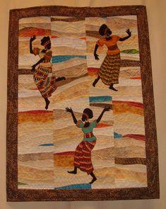 танцующие девушки - квилт