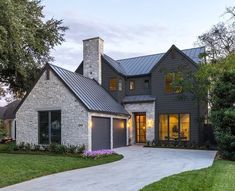 farmhouse design Wraparound Porch is part of Wrap Around Porch House Plans Houseplans Com - Beautiful Modern Farmhouse Exterior Design 13 Farmhouse Exterior Colors, Modern Exterior, Modern House Exteriors, Stone Exterior, Stone Facade, Grey Exterior, Modern House Interior Design, Home Exterior Design, Cafe Exterior